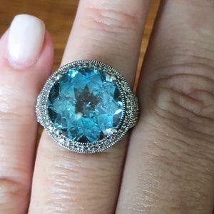 Ramona Singer LONDON BLUE TOPAZ Diamond Sterling
